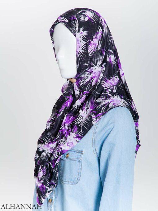 Floral Burst Lycra Square Hijab hi2165 (3)