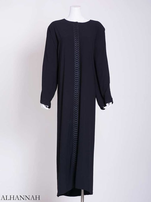 Flowing Embroidered Rhinestone Arches Abaya ab721 (2)