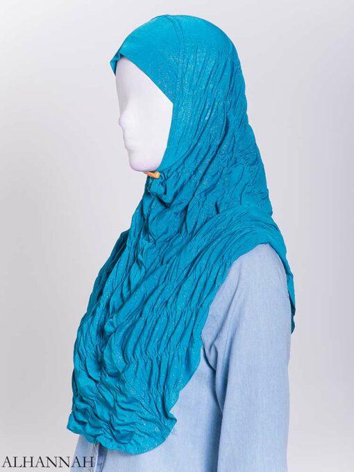 Glitter Crinkle One-Piece Al-Amira Hijab hi2170 (1)