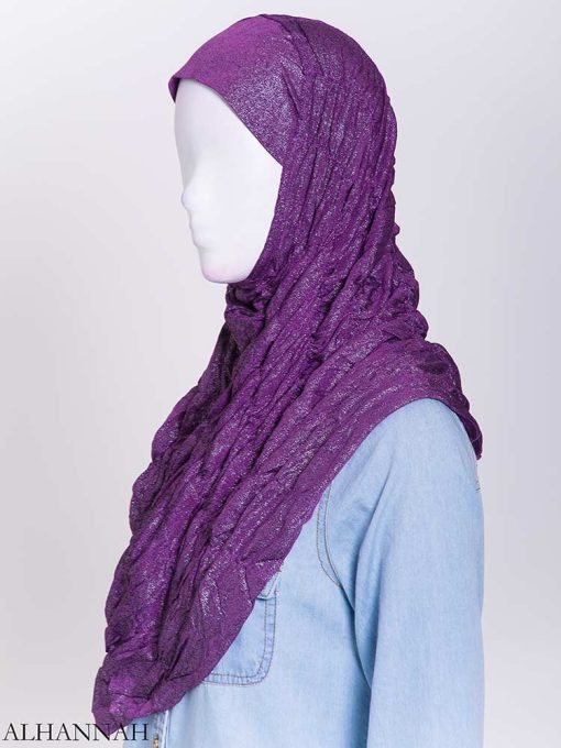 Glitter Crinkle One-Piece Al-Amira Hijab hi2170 (5)