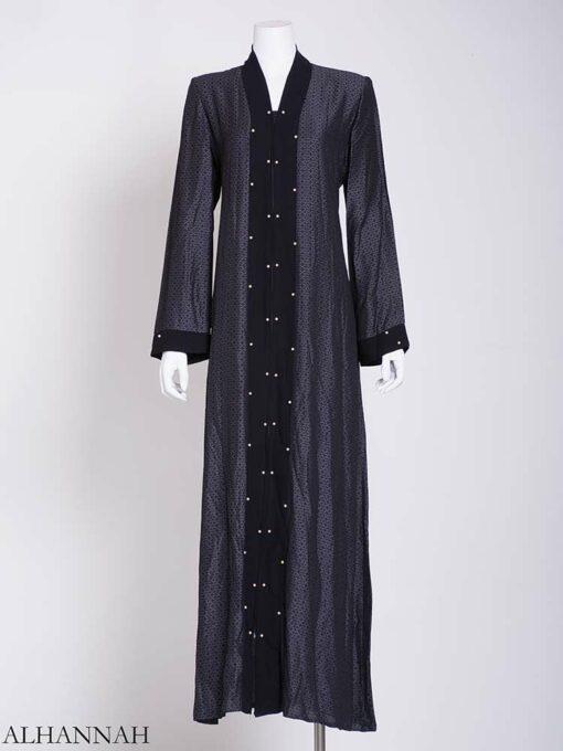 Pearl Lined Abaya ab720 (1)