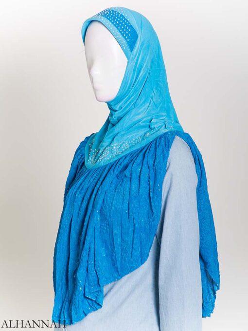 Rhinestone Crinkle One-Piece Al-Amira Hijab hi2172 (1)