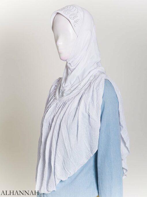 Rhinestone Crinkle One-Piece Al-Amira Hijab hi2172 (2)