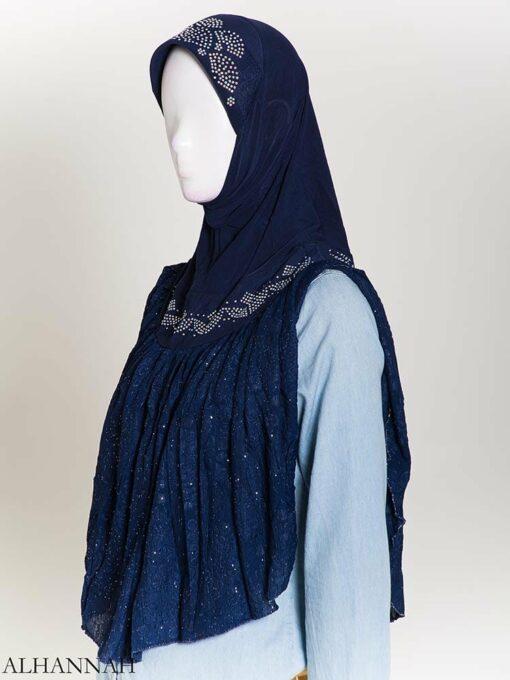 Rhinestone Crinkle One-Piece Al-Amira Hijab hi2172 (3)
