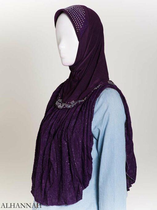 Rhinestone Crinkle One-Piece Al-Amira Hijab hi2172 (4)