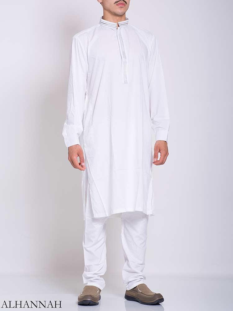 Striped Collar Salwar Kameez me773 (1)