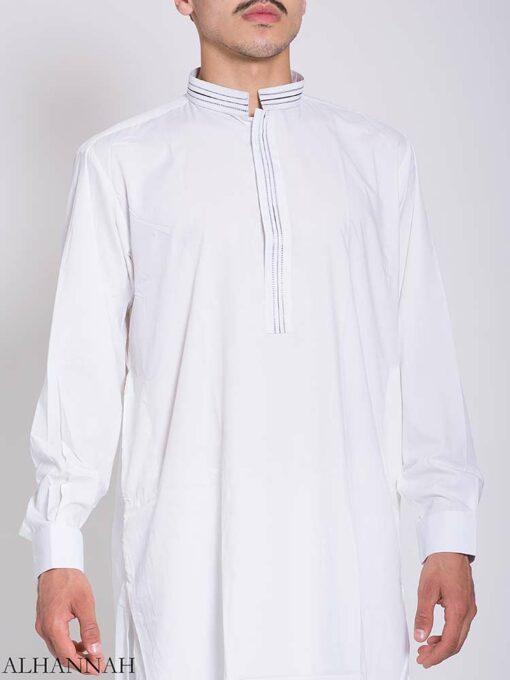Striped Collar Salwar Kameez me773 (2)