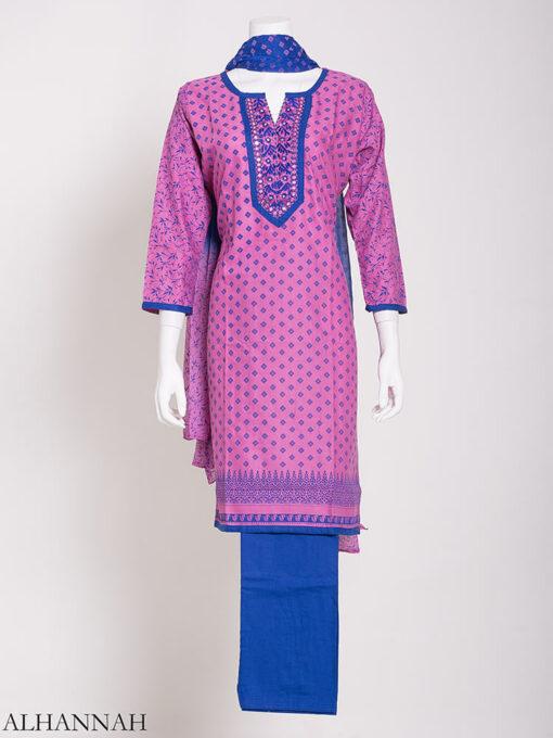 Checkered Floral Salwar Kameez sk1244 (4)
