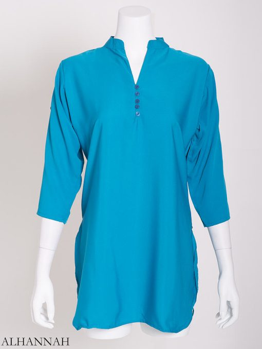 Solid Color Button-Up Kurti st605 (16)