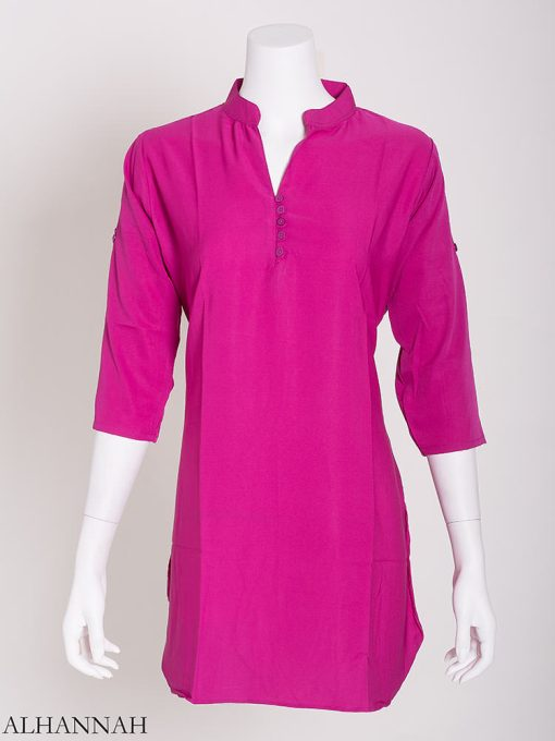 Solid Color Button-Up Kurti st605 (8)