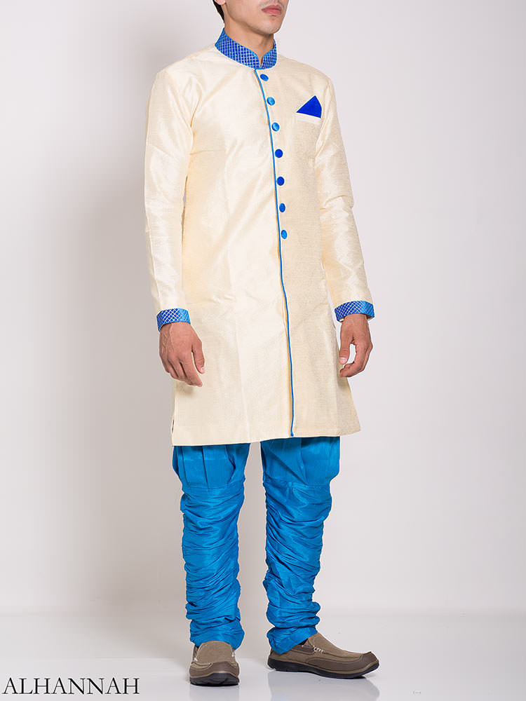 White Zari Vine Jacquard & Velvet Salwar Kameez me776 (1)