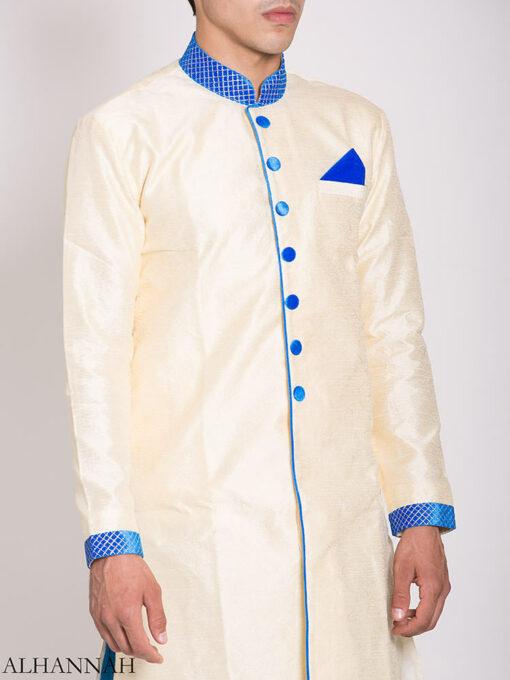White Zari Vine Jacquard & Velvet Salwar Kameez me776 (2)