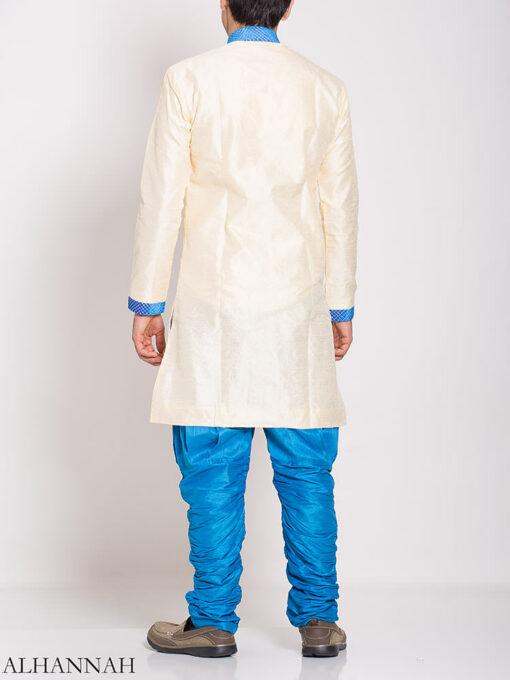 White Zari Vine Jacquard & Velvet Salwar Kameez me776 (3)