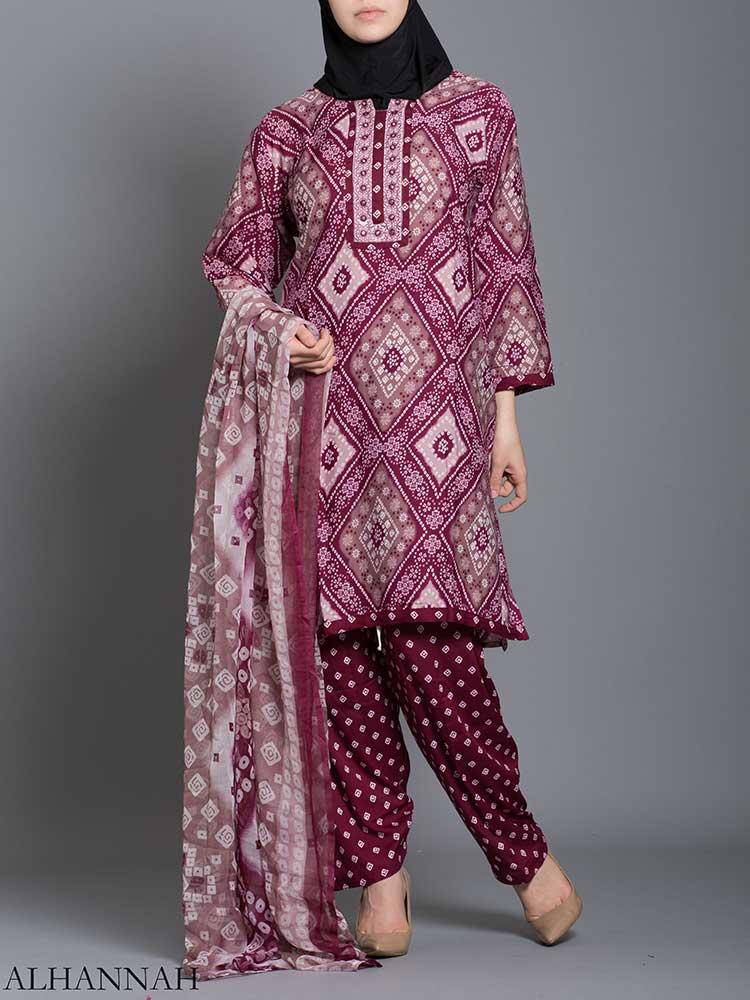 Floral Diamond Salwar Kameez sk1239 (1)