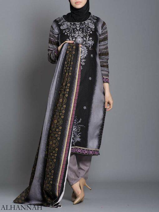 Striped Floral Salwar Kameez sk1242 (3)