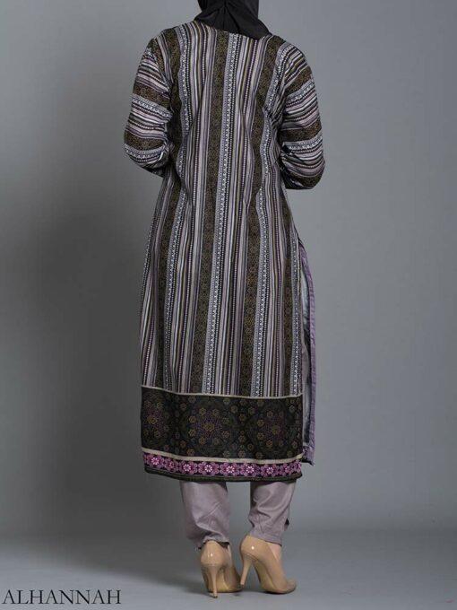 Striped Floral Salwar Kameez sk1242 (6)