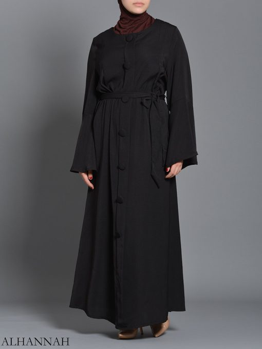 Black pull over Rayon Arabian Abaya ab727 (4)