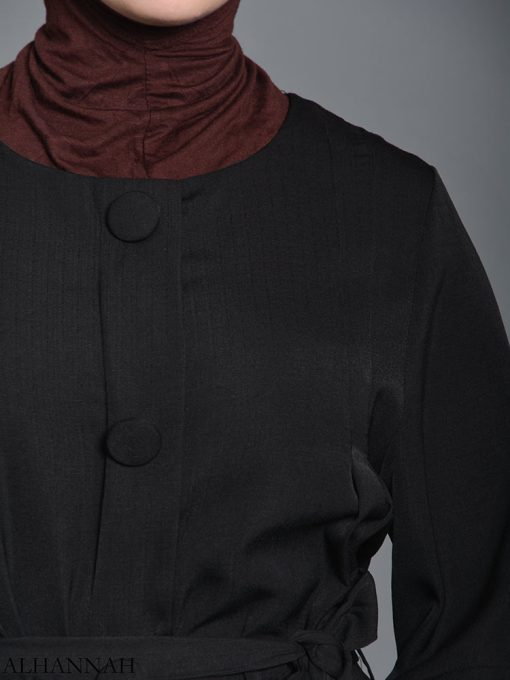 Black pull over Rayon Arabian Abaya ab727 (6)