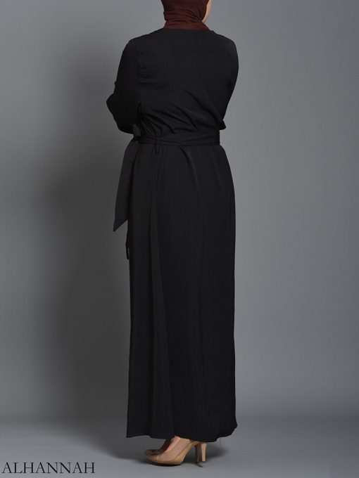 Black pull over Rayon Arabian Abaya ab727 (7)