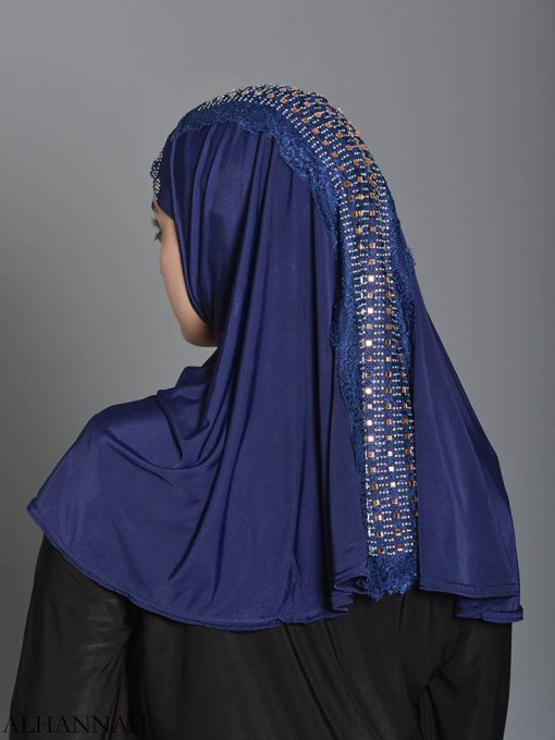 Embellished Laced One-Piece Al-Amira Hijab hi2174 (1)
