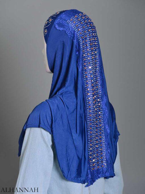 Embellished Laced One-Piece Al-Amira Hijab hi2174 (10)