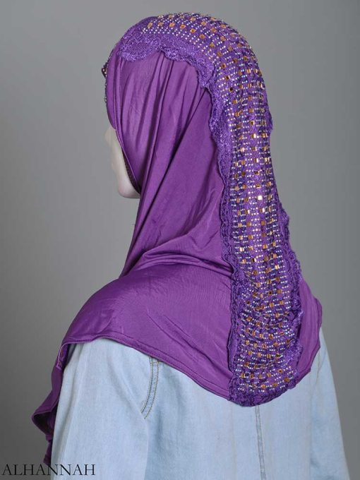 Embellished Laced One-Piece Al-Amira Hijab hi2174 (3)