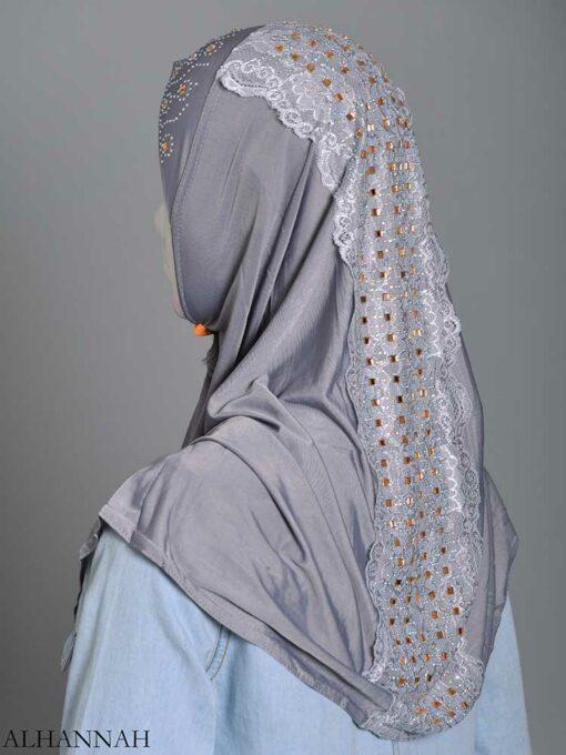 Embellished Laced One-Piece Al-Amira Hijab hi2174 (4)