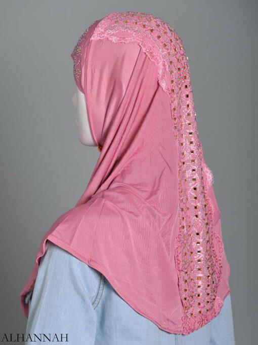 Embellished Laced One-Piece Al-Amira Hijab hi2174 (5)