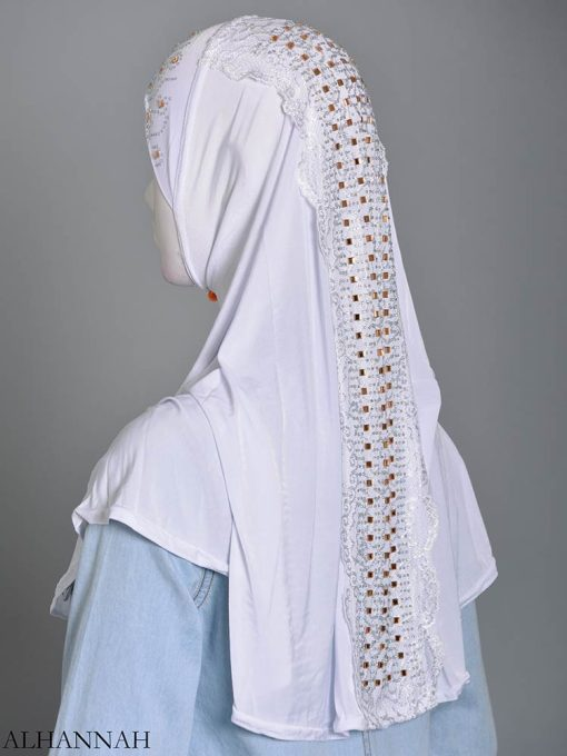 Embellished Laced One-Piece Al-Amira Hijab hi2174 (6)