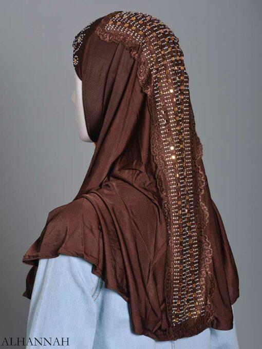Embellished Laced One-Piece Al-Amira Hijab hi2174 (7)
