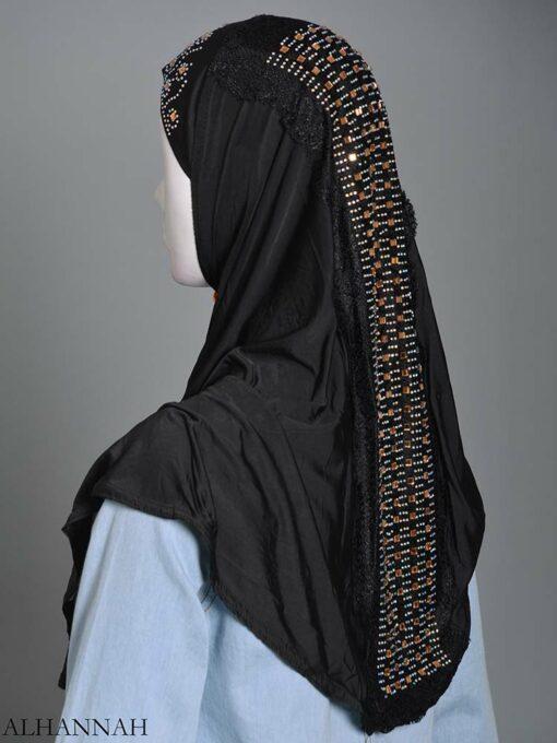 Embellished Laced One-Piece Al-Amira Hijab hi2174 (8)