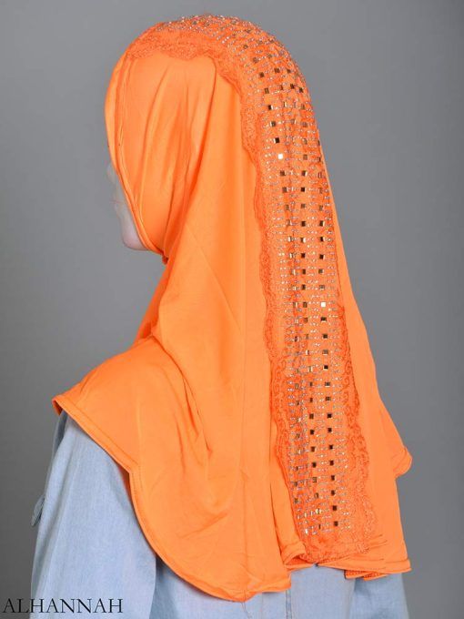 Embellished Laced One-Piece Al-Amira Hijab hi2174 (9)
