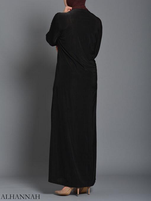 Embellished Pearled Paisley Abaya ab726
