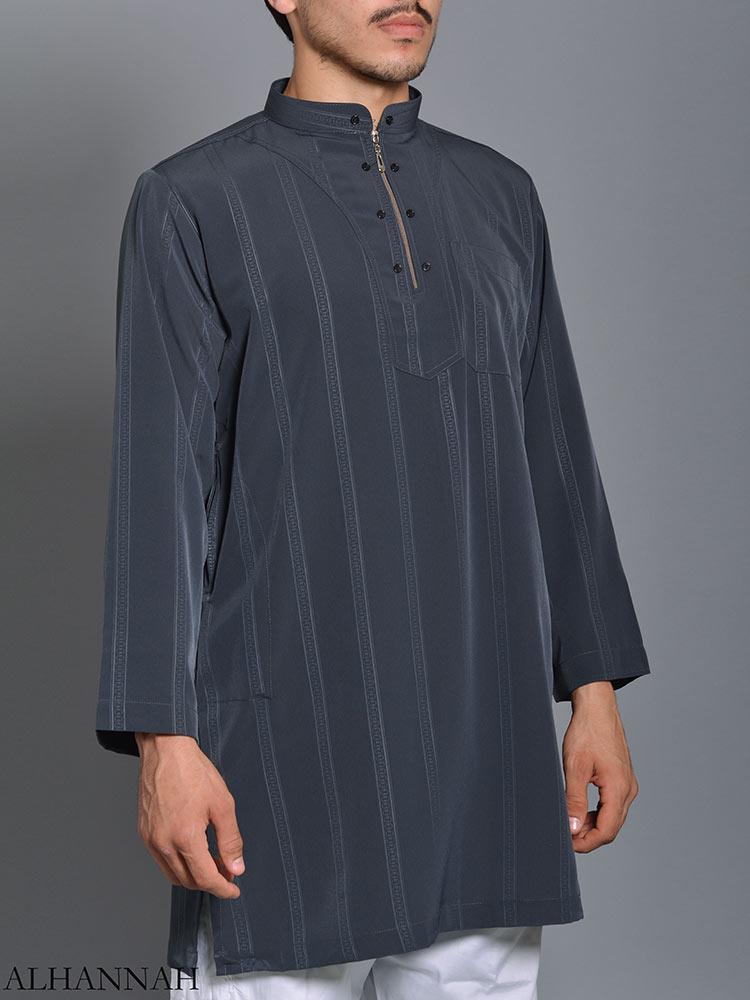 Striped Ikaf Kurta shirt me786 (2)