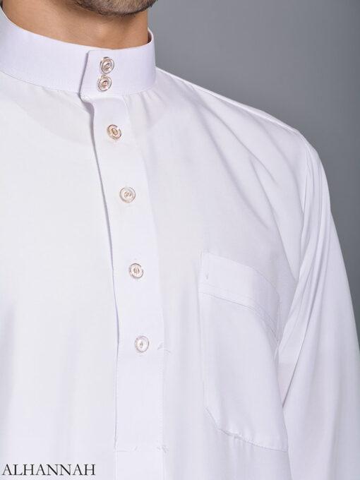 White Daffah Saudi Thobe me785 (3)
