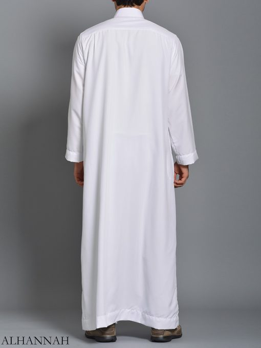 White Daffah Saudi Thobe me785 (4)