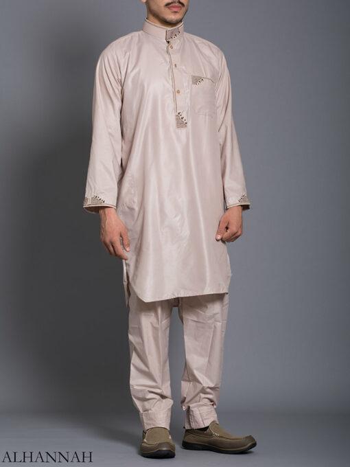 Zari Embroidered Pocketed Salwar Kameez me787 (3)