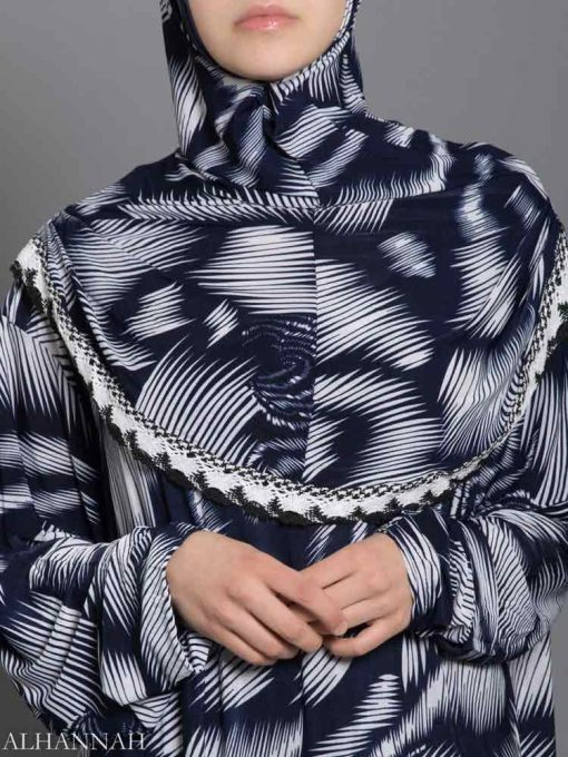 Abstract Feathers Prayer Outfit - Close up