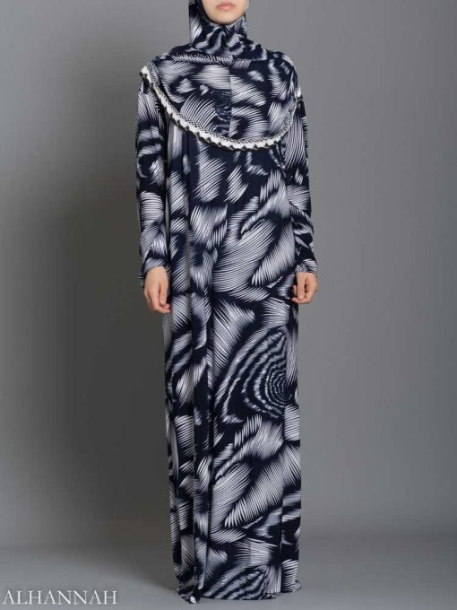 Abstract Feathers Prayer Outfit - One Piece