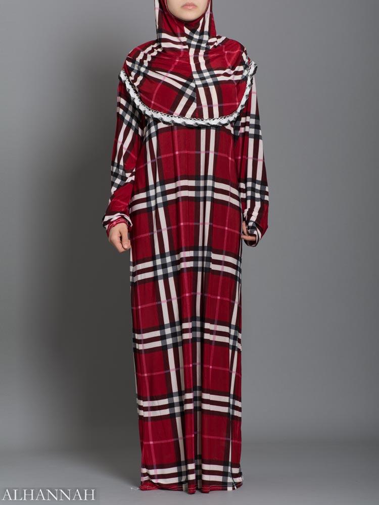 Plaid prayer outfit - Strawberry one piece