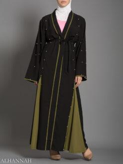 Open Abaya with Side Panels AB733
