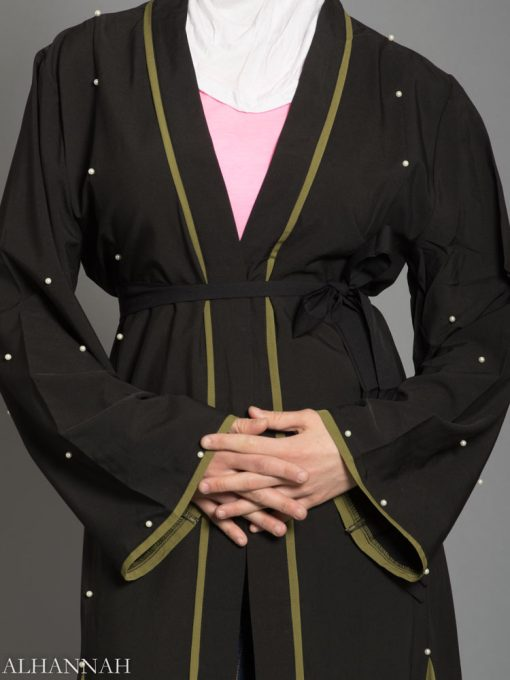 Open Abaya with Side Panels AB733 sleeves