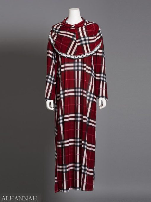 prayer outfit one piece maroon