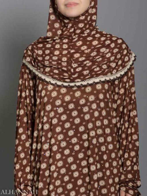 Anemone Dots Prayer Outfit Closeup