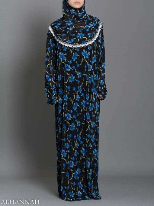 Blue-Rose Vines Prayer Outfit