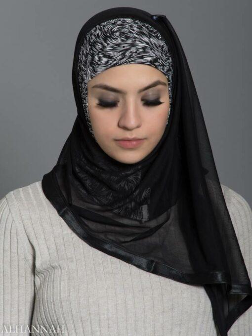 Drifting Kuwaiti Wrap Hijab hi2186 front