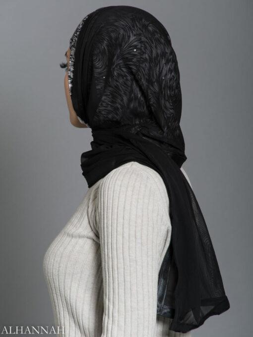 Drifting Kuwaiti Wrap Hijab hi2186 side