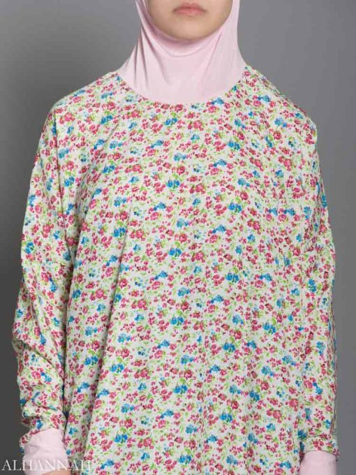 Floral Cotton Candy Prayer Outfit Closeup