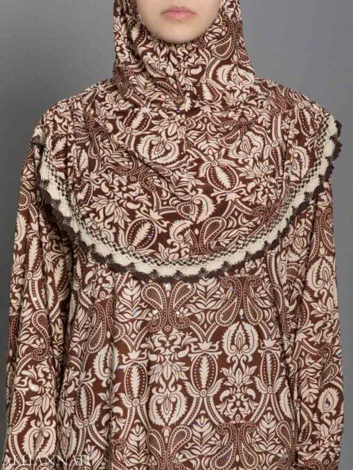 Henna Print Prayer Outfit - Close up