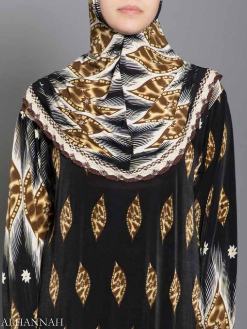 Leopard Lashes Prayer Outfit Closeup